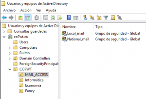 MailAD User Access Control