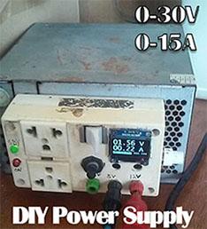 Convierta una fuente de computadora ATX en una fuente variable 0-30V 0-15A